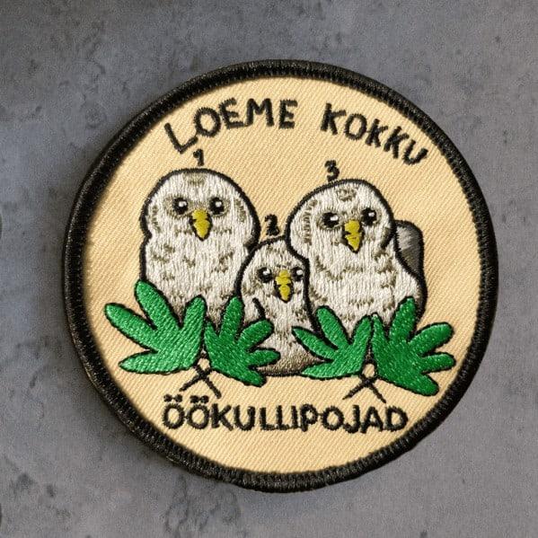 """Kuva haalarimerkistä """"Pöllö"""""""